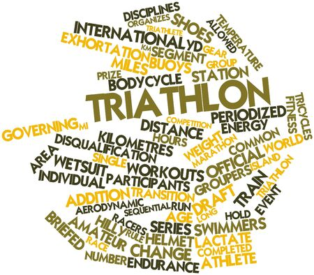 Abstract word cloud for Triathlon with related tags and terms photo
