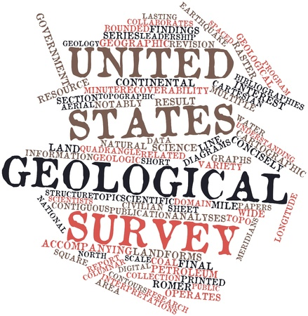 mines: Abstract word cloud for United States Geological Survey with related tags and terms