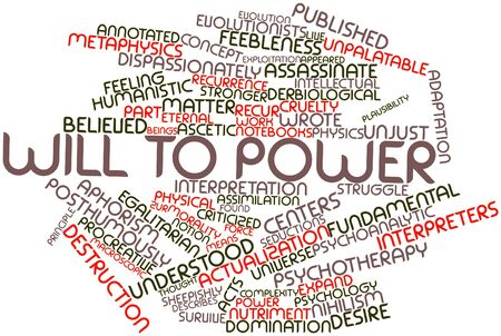 emphasized: Abstract word cloud for Will to power with related tags and terms