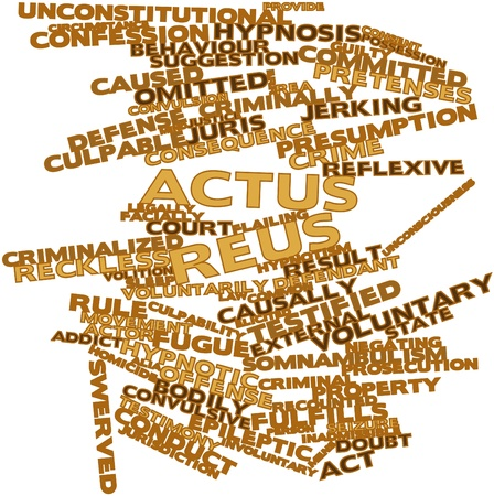 Circumstance: Abstract word cloud for Actus reus with related tags and terms