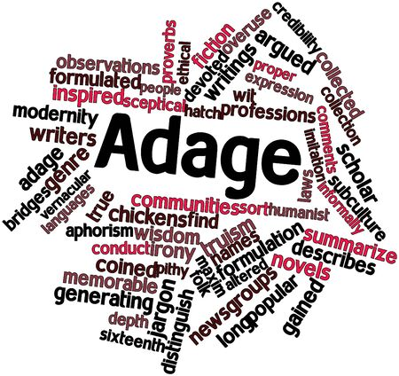 names: Abstract word cloud for Adage with related tags and terms
