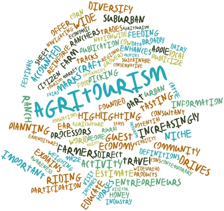 ranchers: Abstract word cloud for Agritourism with related tags and terms