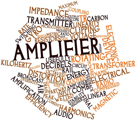 transducer: Abstract word cloud for Amplifier with related tags and terms