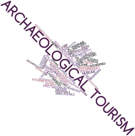 undermine: Abstract word cloud for Archaeological tourism with related tags and terms