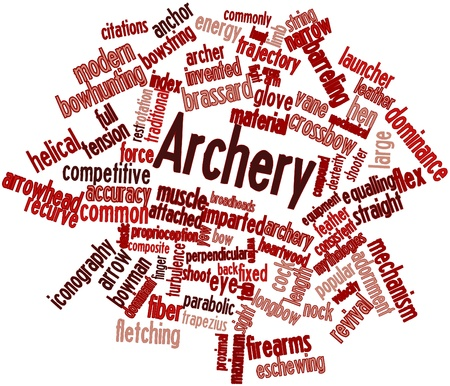 Abstract word cloud for Archery with related tags and terms photo
