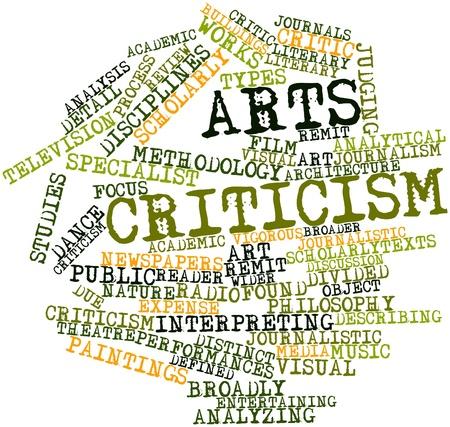 journalistic: Nube parola astratta per Arti critica con tag correlati e termini