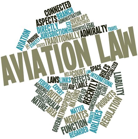 defects: Abstract word cloud for Aviation law with related tags and terms