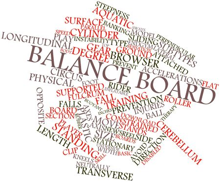 underside: Abstract word cloud for Balance board with related tags and terms Stock Photo