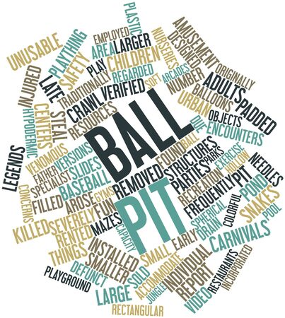 Abstract word cloud for Ball pit with related tags and terms photo