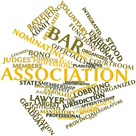 Abstract word cloud for Bar association with related tags and terms Stock Photo - 16983207