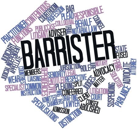 preparatory: Abstract word cloud for Barrister with related tags and terms