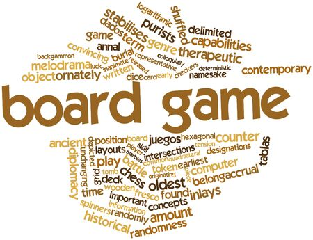 inlays: Abstract word cloud for Board game with related tags and terms