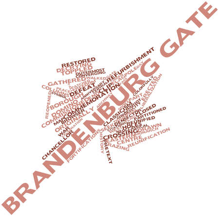 west gate: Abstract word cloud for Brandenburg Gate with related tags and terms