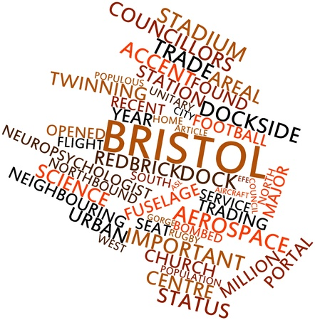 twinning: Abstract word cloud for Bristol with related tags and terms Stock Photo