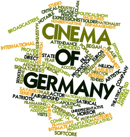 notable: Abstract word cloud for Cinema of Germany with related tags and terms