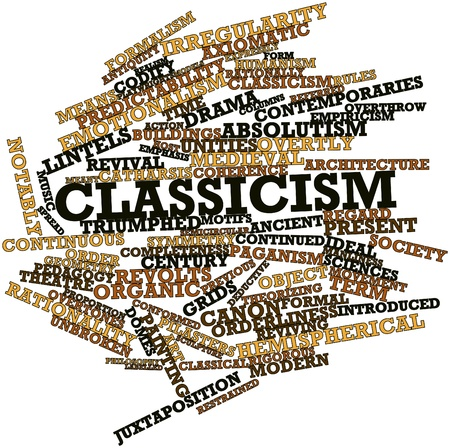 Abstract word cloud for Classicism with related tags and terms Stock Photo - 16983787