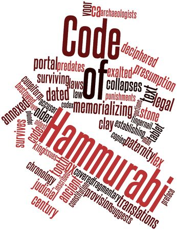 cited: Abstract word cloud for Code of Hammurabi with related tags and terms