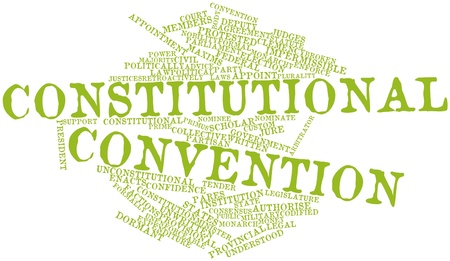 constitutional: Abstract word cloud for Constitutional convention with related tags and terms