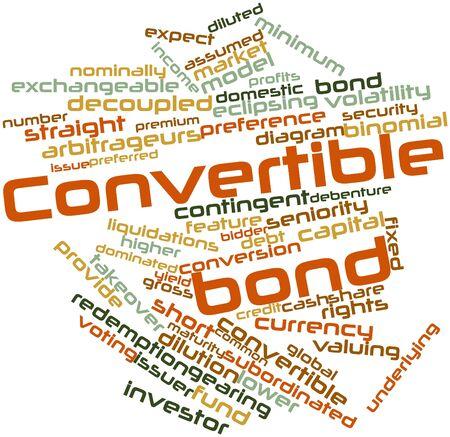 volatility: Nube palabra abstracta para emision de bonos convertibles con las etiquetas y t�rminos relacionados Foto de archivo