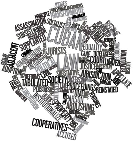 legality: Abstract word cloud for Cuban law with related tags and terms