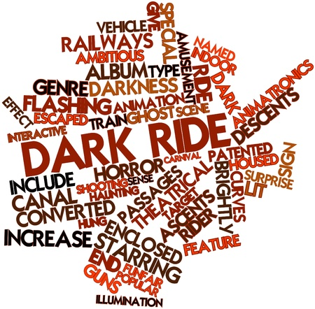 episode: Abstract word cloud for Dark ride with related tags and terms