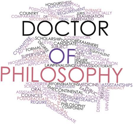 supervisión: Nube de palabras Resumen de Doctor en Filosofía con etiquetas y términos relacionados