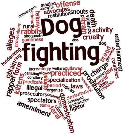 Abstract word cloud for Dog fighting with related tags and terms photo