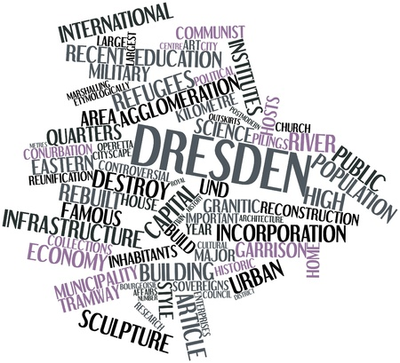 kilometre: Abstract word cloud for Dresden with related tags and terms
