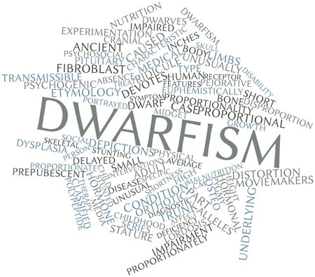 osteo: Abstract word cloud for Dwarfism with related tags and terms