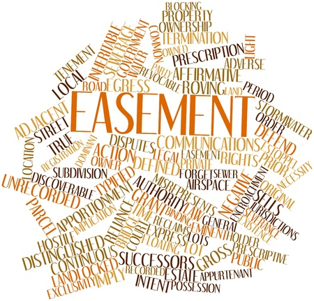 existence: Abstract word cloud for Easement with related tags and terms
