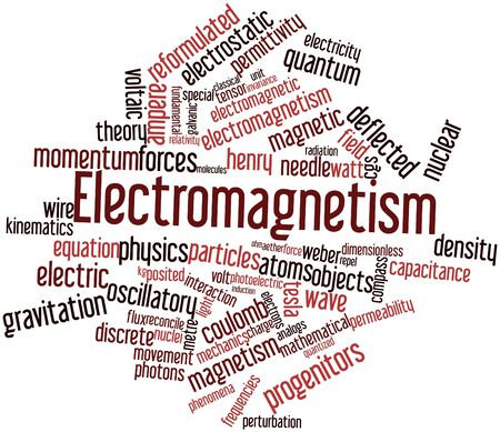 Abstract word cloud for Electromagnetism with related tags and terms