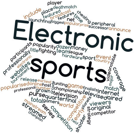 Abstract word cloud for Electronic sports with related tags and terms Stock Photo - 16983057