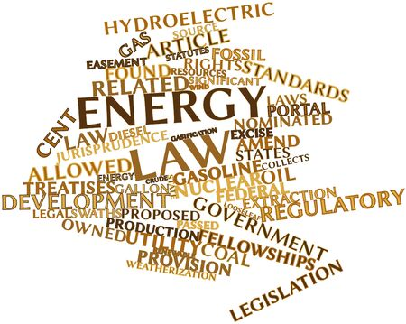 statutes: Abstract word cloud for Energy law with related tags and terms