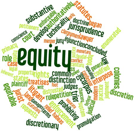 plaintiff: Abstract word cloud for Equity with related tags and terms