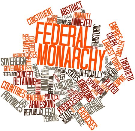 monarchy: Abstract word cloud for Federal monarchy with related tags and terms