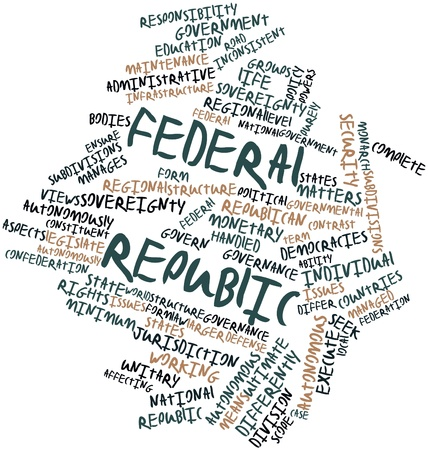 Abstract word cloud for Federal republic with related tags and terms Stock Photo - 16983251