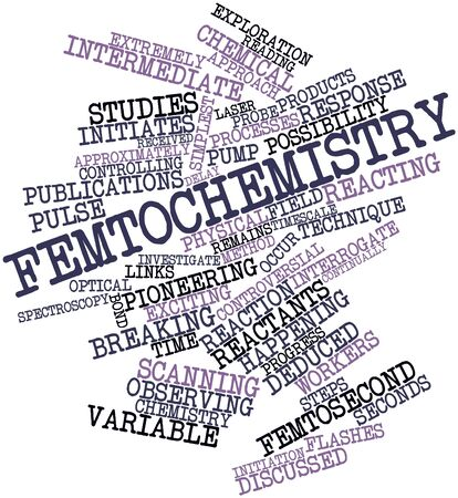 Abstract word cloud for Femtochemistry with related tags and terms Stock Photo - 16983643