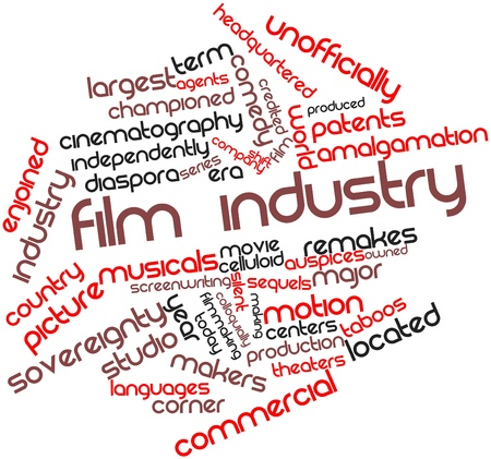part time: Abstract word cloud for Film industry with related tags and terms