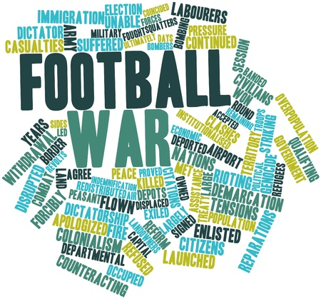 launched: Abstract word cloud for Football War with related tags and terms Stock Photo