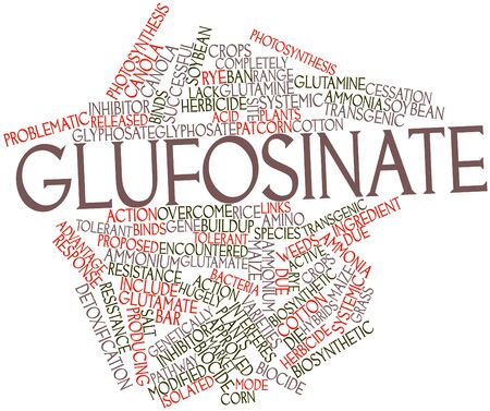 Abstract word cloud for Glufosinate with related tags and terms photo