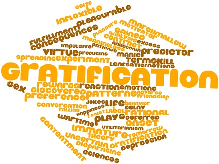 Abstract word cloud for Gratification with related tags and terms Stock Photo - 16982704
