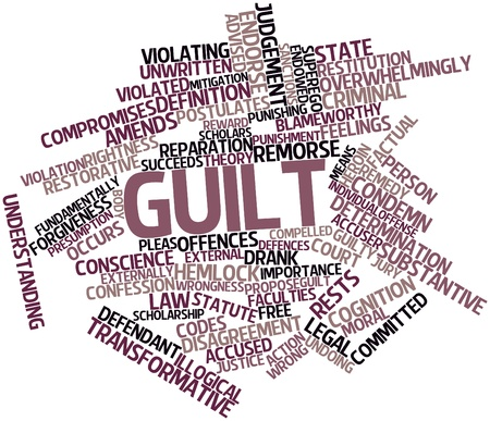 accuser: Abstract word cloud for Guilt with related tags and terms