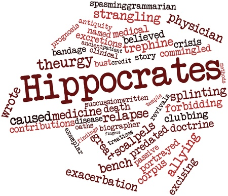 named person: Abstract word cloud for Hippocrates with related tags and terms