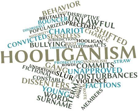 instances: Word cloud astratto per Hooligans con tag correlati e termini