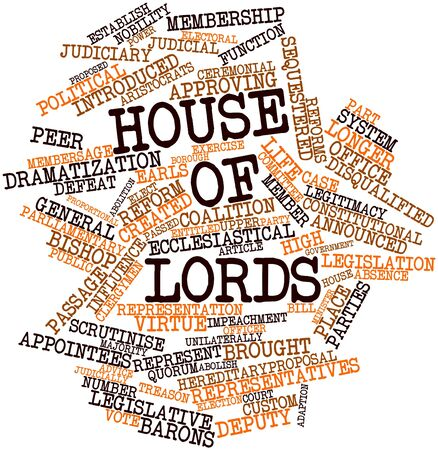 scrutinise: Abstract word cloud for House of Lords with related tags and terms