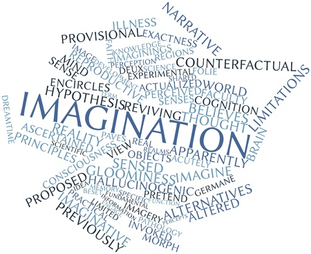 Abstract word cloud for Imagination with related tags and terms Stock Photo - 16982974