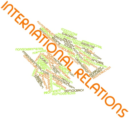 Abstract word cloud for International relations with related tags and terms Stock Photo - 16982743
