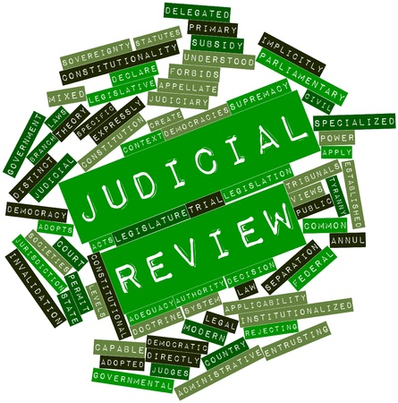Abstract word cloud for Judicial review with related tags and terms