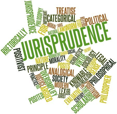 jurisprudencia: Nube palabra abstracta por la jurisprudencia con las etiquetas y t�rminos relacionados