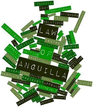 related: Abstract word cloud for Law of Anguilla with related tags and terms